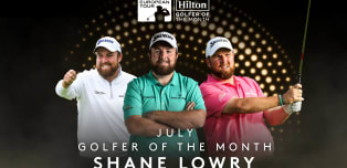 Lowry voted Hilton Golfer of the Month for July