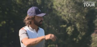 Italian footballer Andrea Pirlo plays in Pro-Am