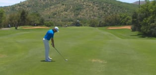 Shot of the day - Tommy sets up third eagle of round!