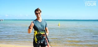 Kite surfing with Thomas Detry
