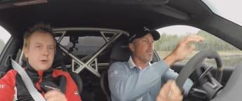 Kuchar goes behind the wheel