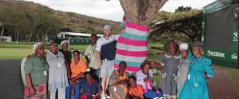 Yarn bombing makes colourful splash in Sun City
