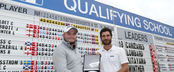 Lombard and Cañizares share top prize as 27 graduate to European Tour