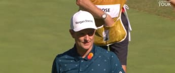 Justin Rose battles to second round 69 in Rome