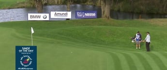 Shot of the day - Levy's impressive chip-in