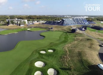 Players describe the 18th hole at Le Golf National