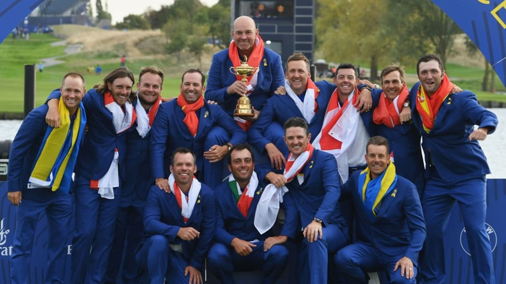 Winning Ryder Cup team