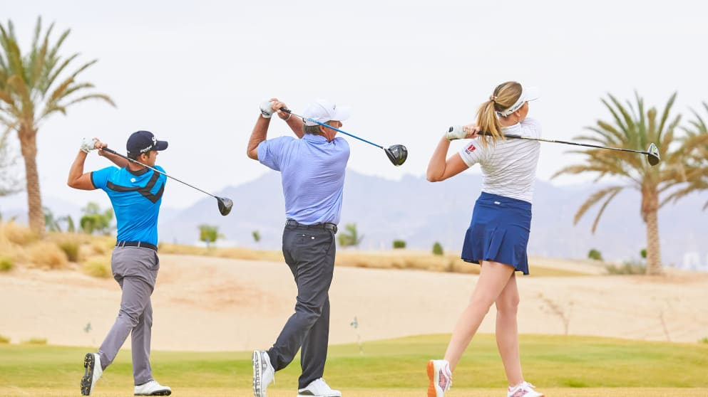 Borja Virto, Barry Lane and Olivia Cowan