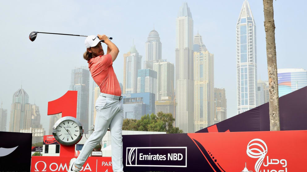 Tommy Fleetwood will tee it up at the Omega Dubai Desert Classic looking for a first win at Emirates GC