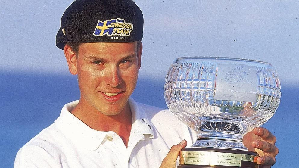Henrik Stenson grand final trophy