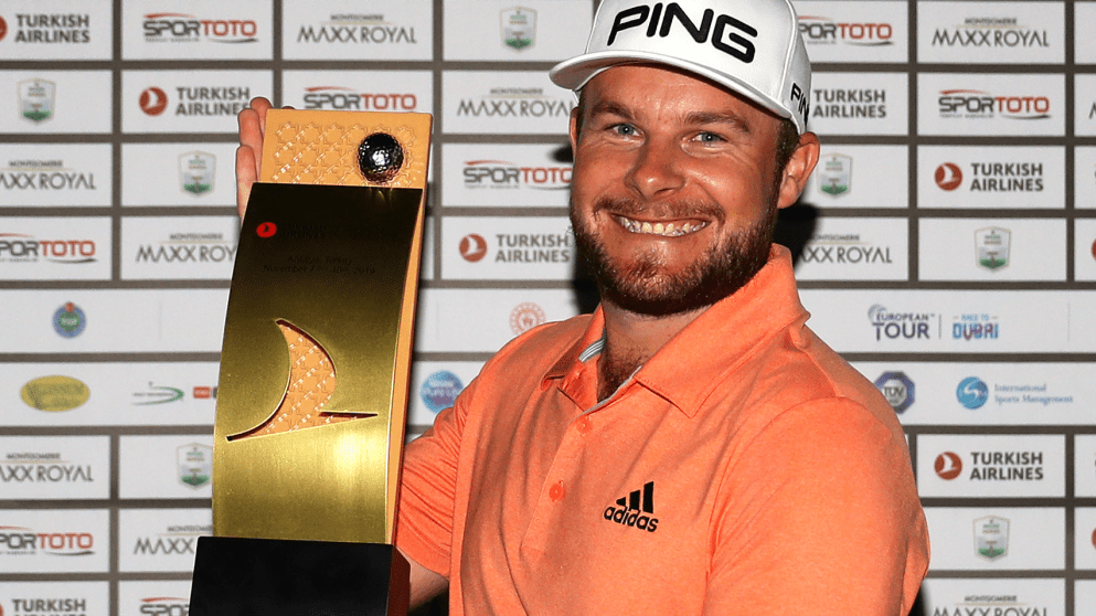 Tyrrell Hatton with Turkish Airlines trophy
